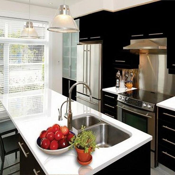 Kitchen Using Prefabricated Quartz