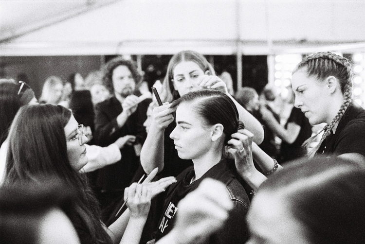 adelaide fashion festival 2016_media makeup_clup joint_model having makeup applied