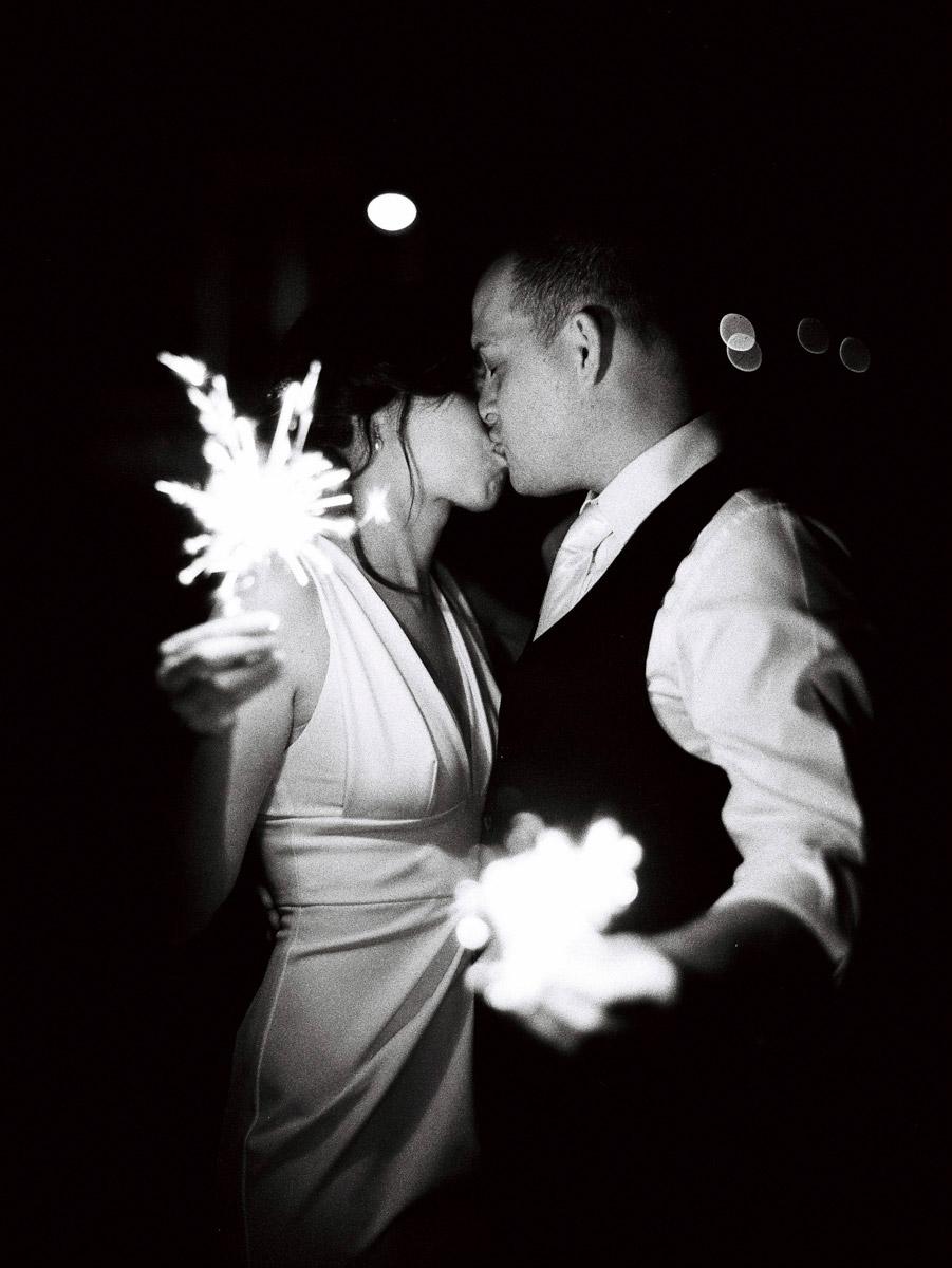 SPARKLER EXIT Wedding Adelaide coulee holding sparklers