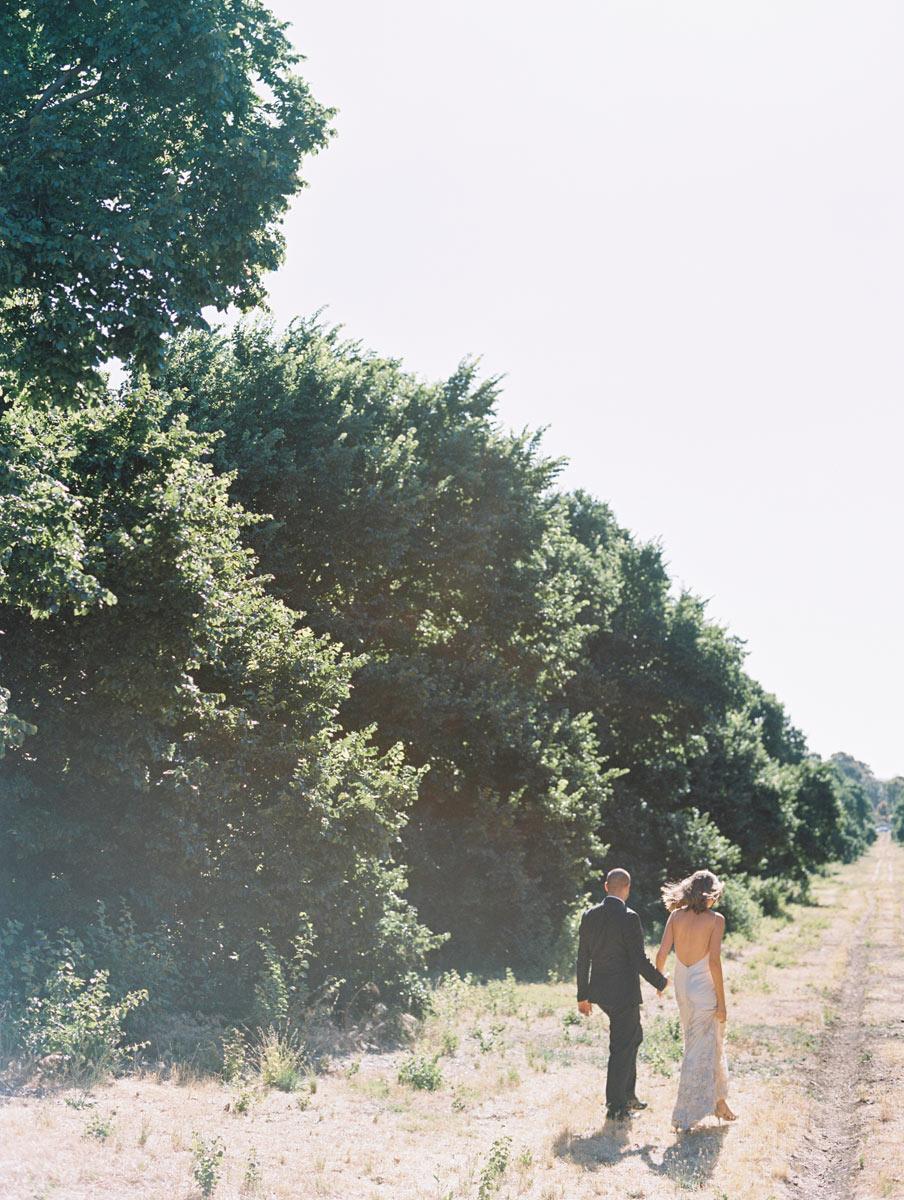 Low back wedding dress Wedding couple Adelaide