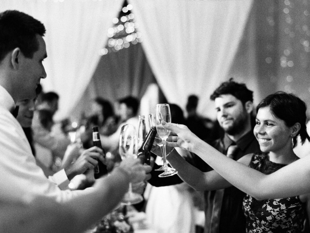 Golding Winery Best Wedding Photography Guest Cheersing drinks