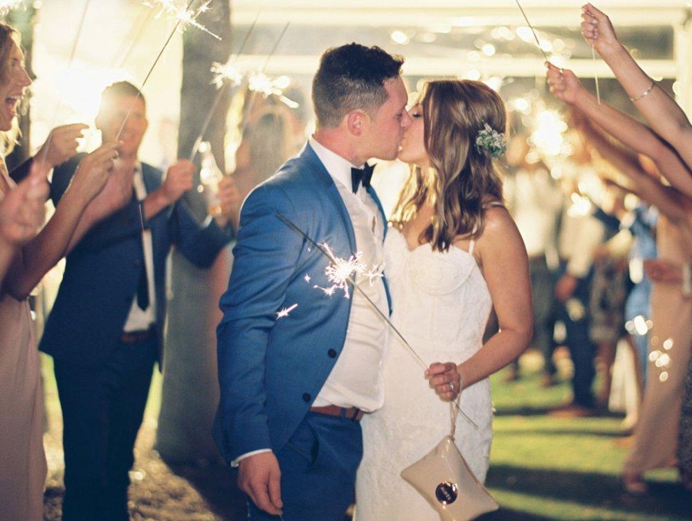 kingsbrook estate wedding sparkler exit