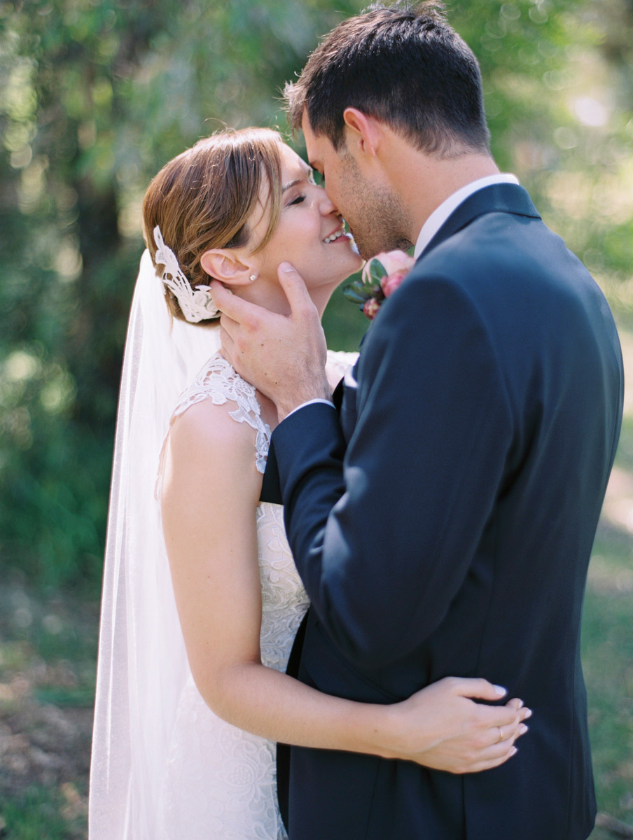 romantic wedding photos Adelaide film analog