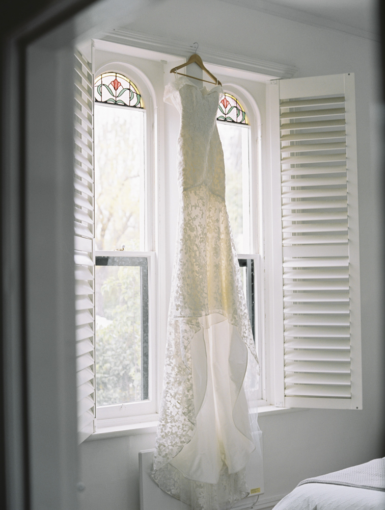 Barossa Valley Wedding Photography - dress hanging near window