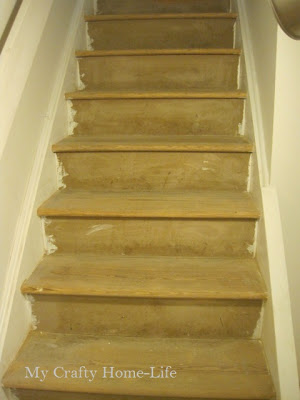I Am Currently In The Process Of Refinishing The Basement Stairs. My Goal  Is To Have A Beautiful Runner Down The Center Of The Stairs, And Have  Exposed Wood ...
