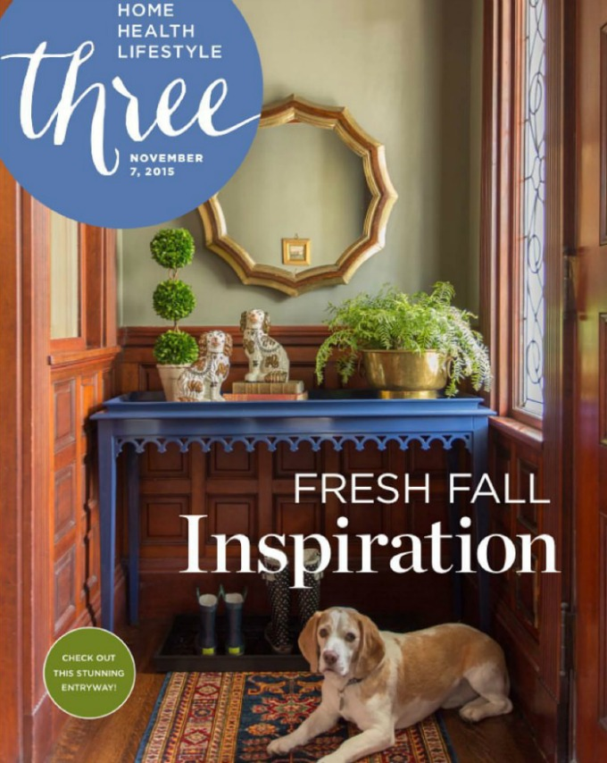 Kelly Rogers Interiors One Room Challenge™ on the cover of Three Magazine