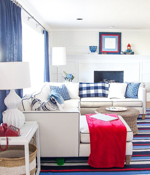 While everyone is dashing around to finish their #oneroomchallenge we hope you take time to #vote 🇺🇸! This beautiful red + white + blue room was designed by Rachel @pencilshavings ORC cir Fall '16 #timelessdesign. You can catch up on the latest from the Guest Participants 👆 🔗  Live stories on #bhgorc Featured Designers 👇  @athomewithashley @brepurposed @dabito @theenglishroom @erinkestenbaum @harlowandthistle @houseofbrinson @jandjdesigngroup @kellygolightly @lindaholtcreative @meganbachmanninteriors @michellecgage @mimosalaneblog @murphydeesign @vestigehome @oldhomelove @sgardnerstyle @designershay @sitamontgomeryinteriors @smpliving @betterhomesandgardens #bhgorc