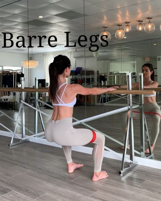 B A R R E  L E G S 🦵🏼SWIPE for a few of my favorite barre moves from my workouts this weekend. Major abductor, calf, booty, & quad burn! . . . . . . #barrevideos #livfitness #barreworkout #fitnessblogger #personaltrainer #athleisure #bloggerstyle #legday #dancers #bandworkouts #calfworkout