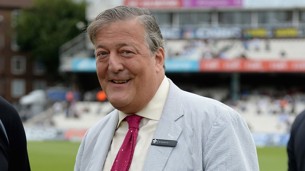 Stephen Fry at Lords. Photo: Getty Images.