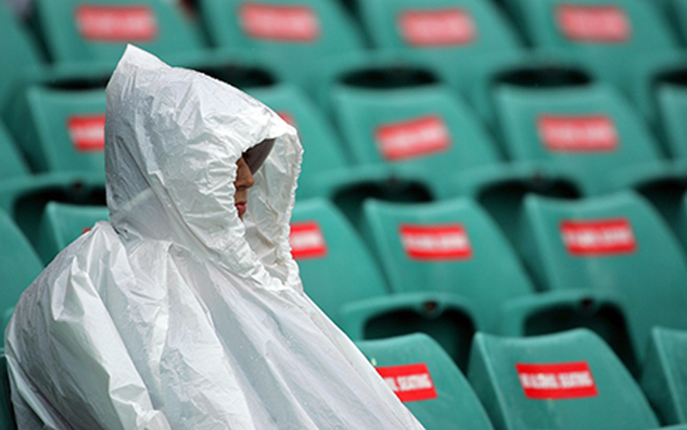 Sensible outwear for the wet weather days. Picture: Getty Images