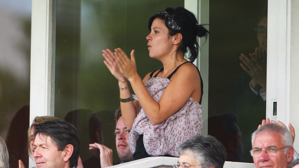 Lily Allen soaking up the atmosphere at Lords Photo: Getty Images