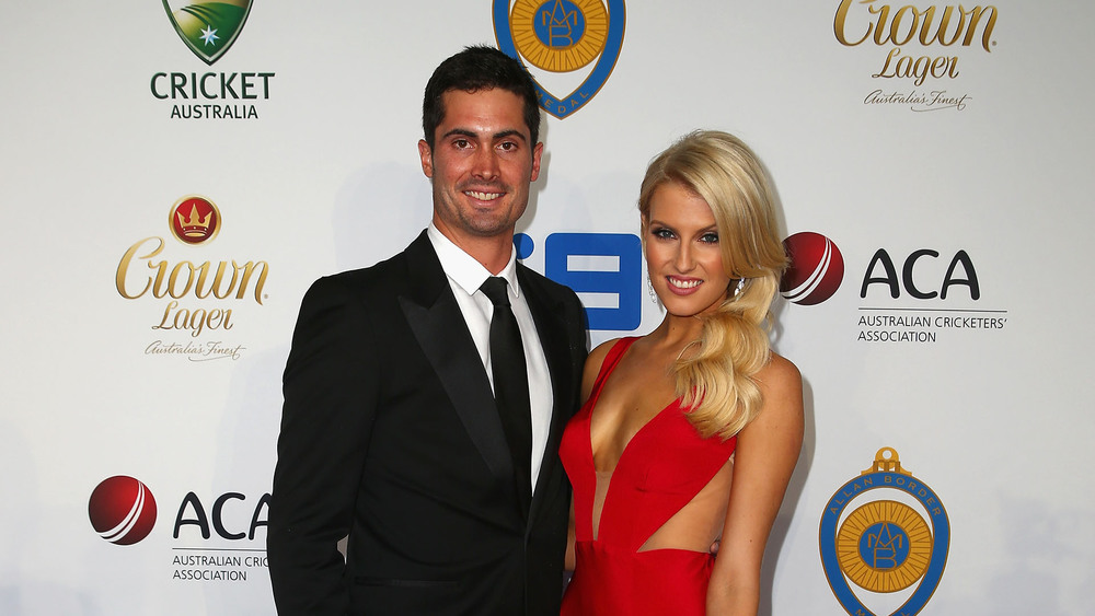 Erin Holland & Ben Cutting bonded of their love for cricket and being follow Queenslanders. Picture: Getty Images.