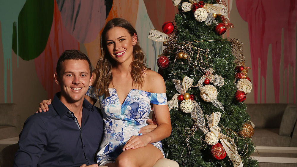 Josh Hazlewood & partner Cherina Murphy Christian snapped at the players luncheon. Photo: Getty Images.