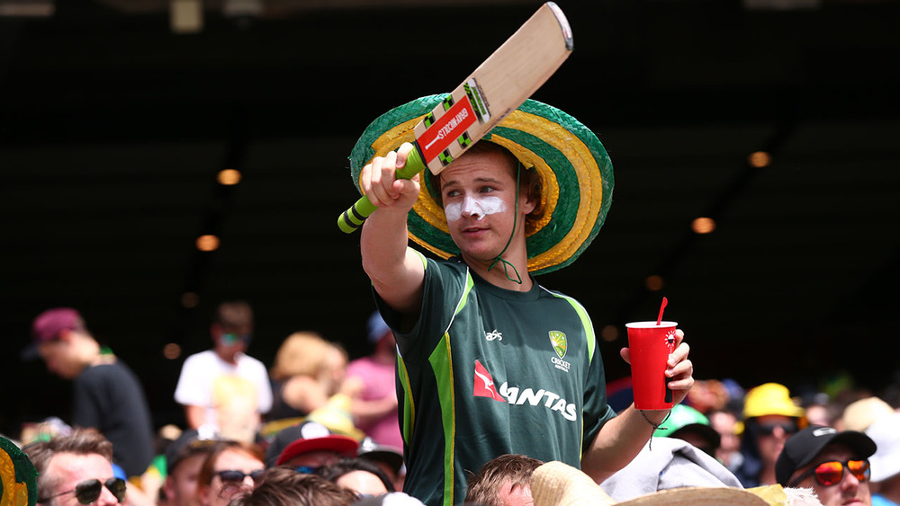 Colourful costumes and sporting attire are often seen at the Boxing Day Test. Photo: Getty Images.