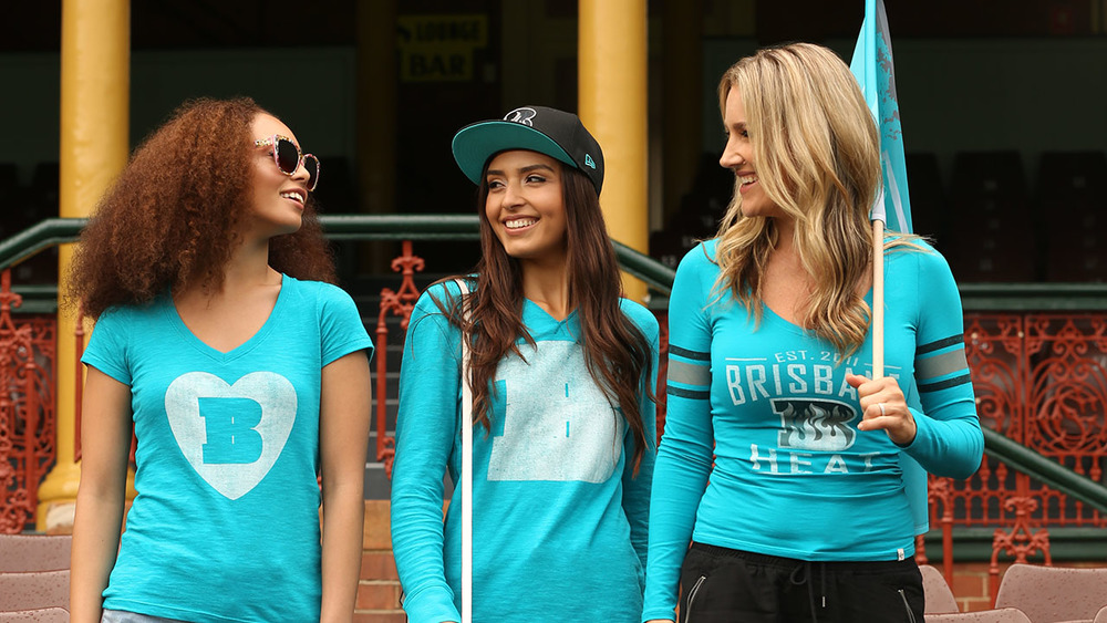 Coming in hot... a look at the new BBL Brisbane Heat supporter wear. Photo: Sourced.