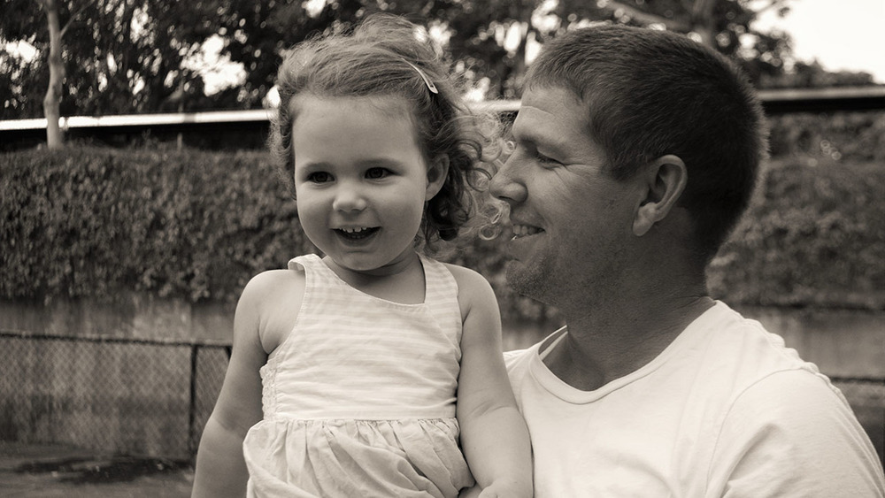 Cricketer James Hopes shares a moment with his young daughter Emerson. Photo: Sourced.