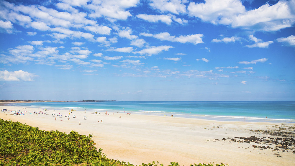 Wide sandy shores make the perfect terrain for beach cricket at Cable Beach in Broome. Photo: Istock.