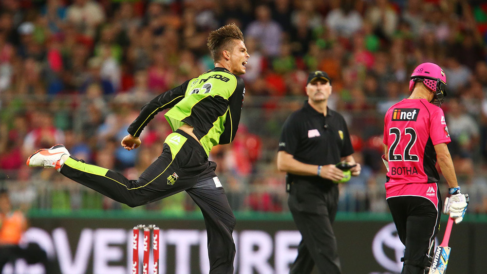 Chris Green has been a valuable addition to the Sydney Thunder Big Bash League Team.  Photo: Getty Images.