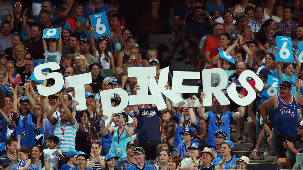 Adelaide Strikers fans were out in force. Photo: Getty Images.