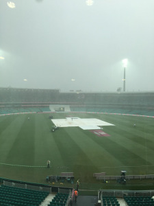 A rainy outlook for the Commonwealth Bank Pink Test. Photo: Sourced.