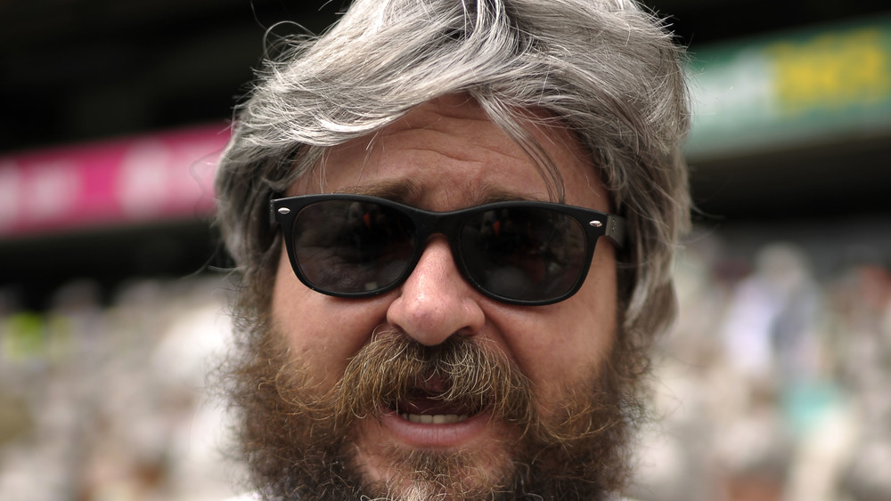 This cricket fan has a striking resemblance to Alan from the Hangover Movie. Photo: Getty Images.