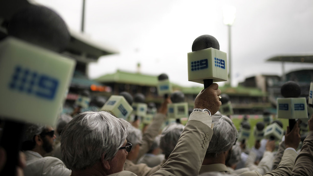 The Richies out in force, honouring late cricketer and commentator Richie Benaud. Photo: Getty Images.
