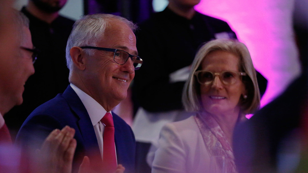 Prime Minister Malcolm Turnbull and wife Lucy Turnbull. Photo: Getty Images.