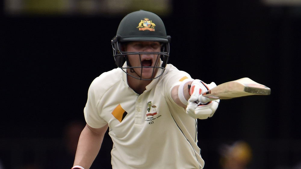 Australian Captain Steve Smith gets vocal during a cricket match. Photo: Getty Images.