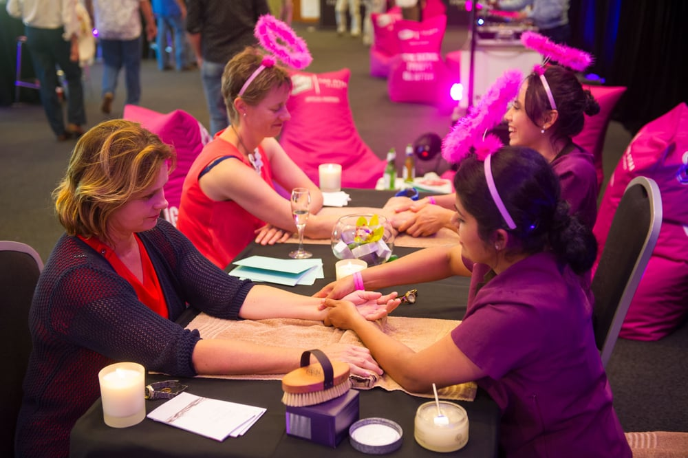Pamper station at the Sydney Sixers & Woman's Day Girls Night Out Photo: Ian Bird//Sydney Sixers