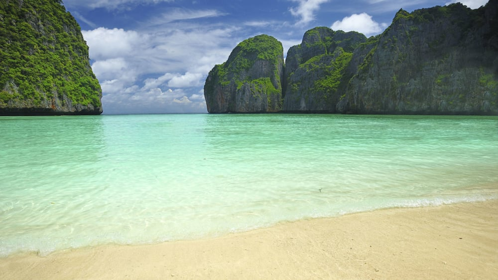 This small island in Thailand plays host to plenty of beach cricket moments in the movie The Beach. Photo: Getty Images.