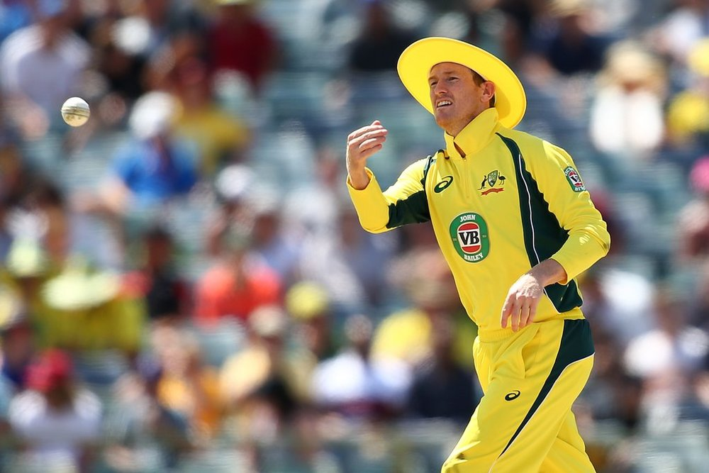 Australian cricketer George Bailey didn't shy away from #GoGold during the One Day International Series match in Perth.  Photo: Getty Images.