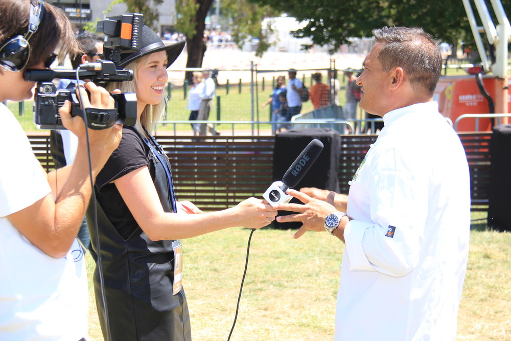 Celebrity chef Peter Kuruvita (right) talks about what people can expect at the food event, new to the cricket this summer. Photo: Sourced.