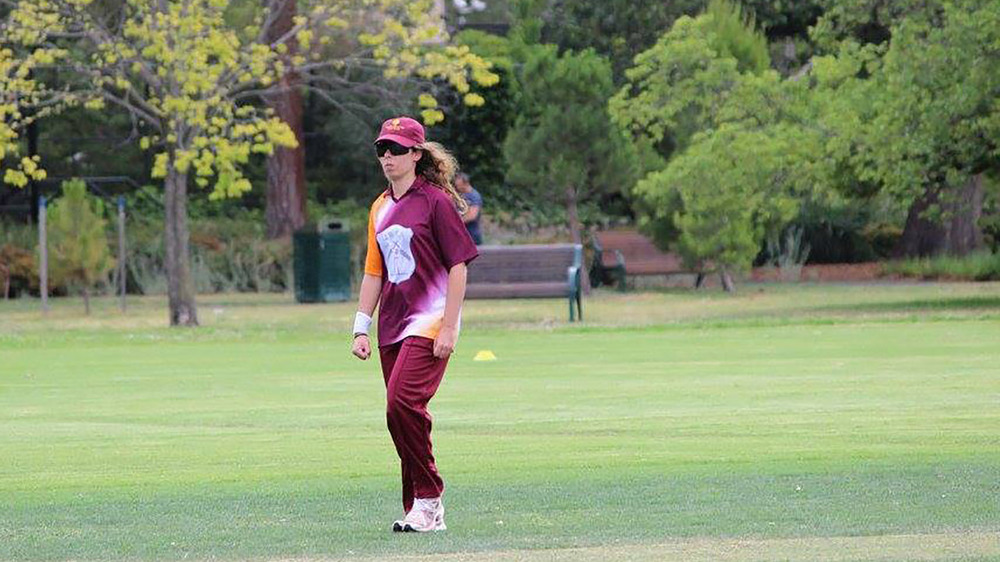 Despite her limited vision, Chrissy Brincat has discovered a love for cricket. Photo: Sourced.