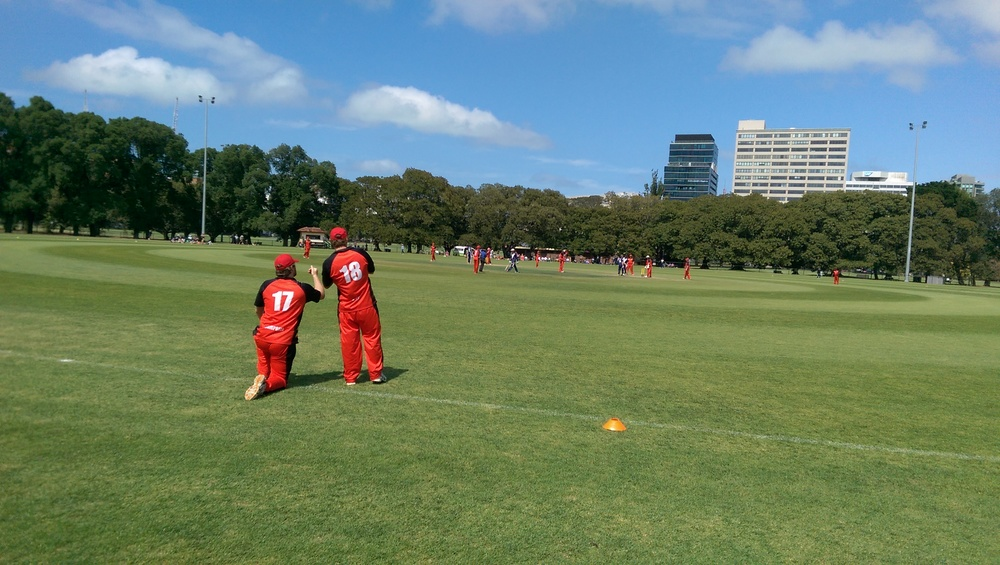 Fawkner Park in Melbourne hosted the Blind Cricket Championships. Photo: Sourced.