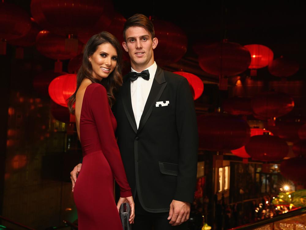 Mitchell Marsh and Isabelle Platt, dressed in Aelkemi
