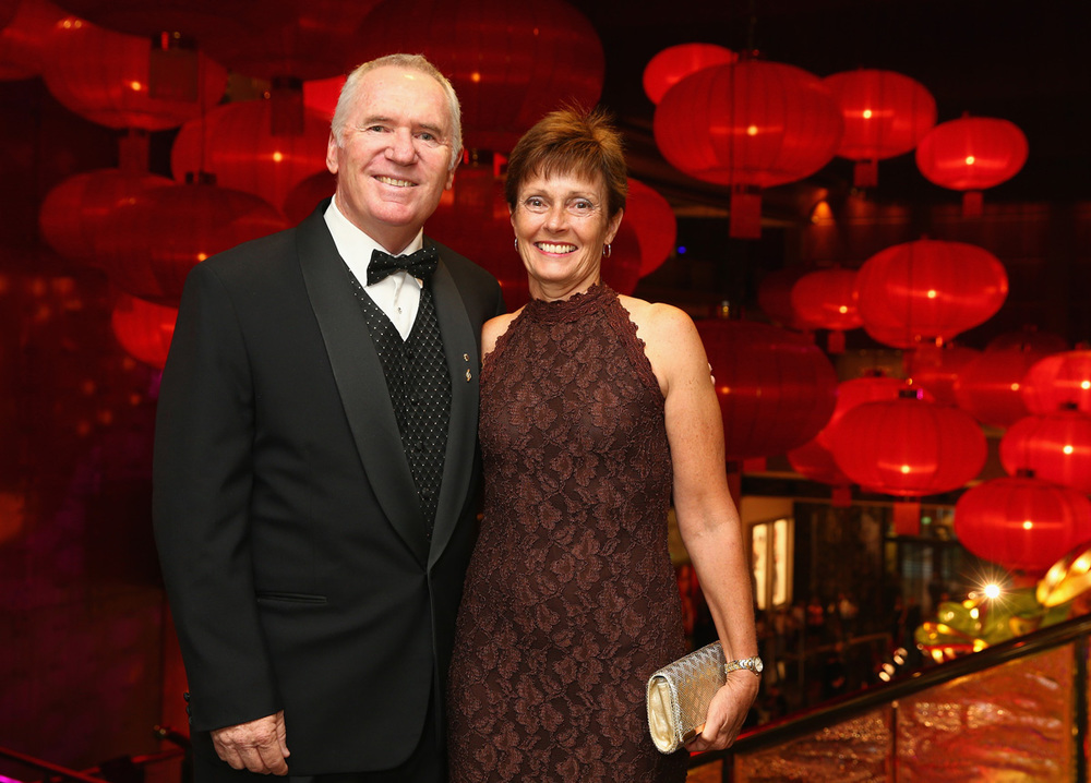 Allan Border himself, with wife Jane Hiscox