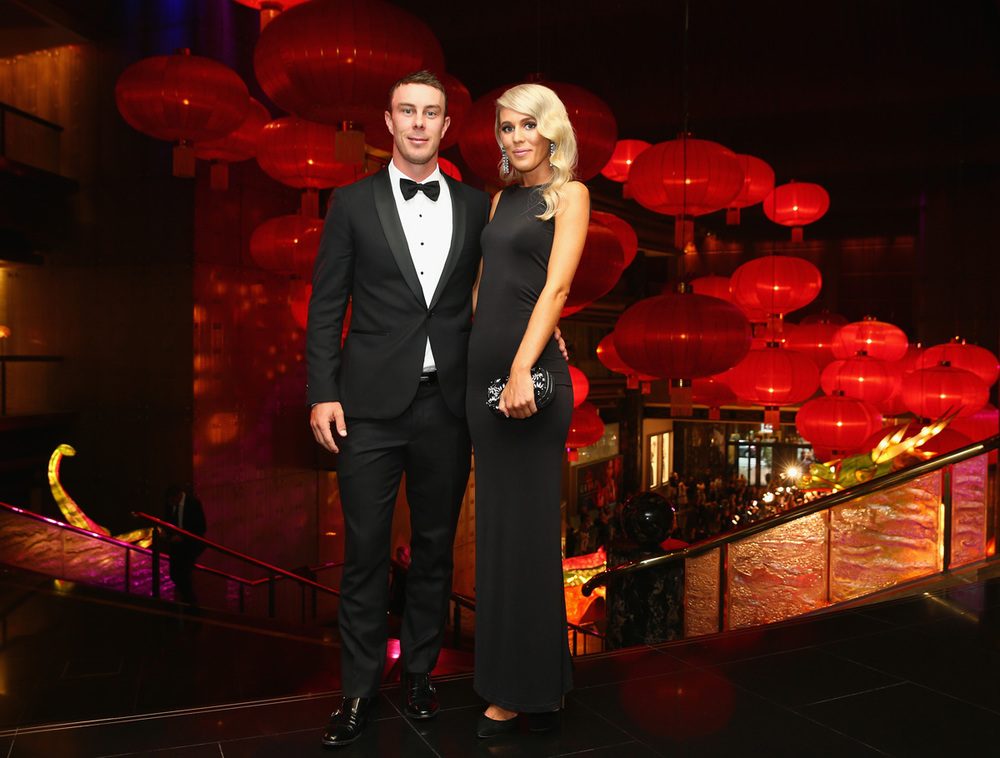 Chris Lynn and Krystal Opperman, dressed by Amy Taylor Collection