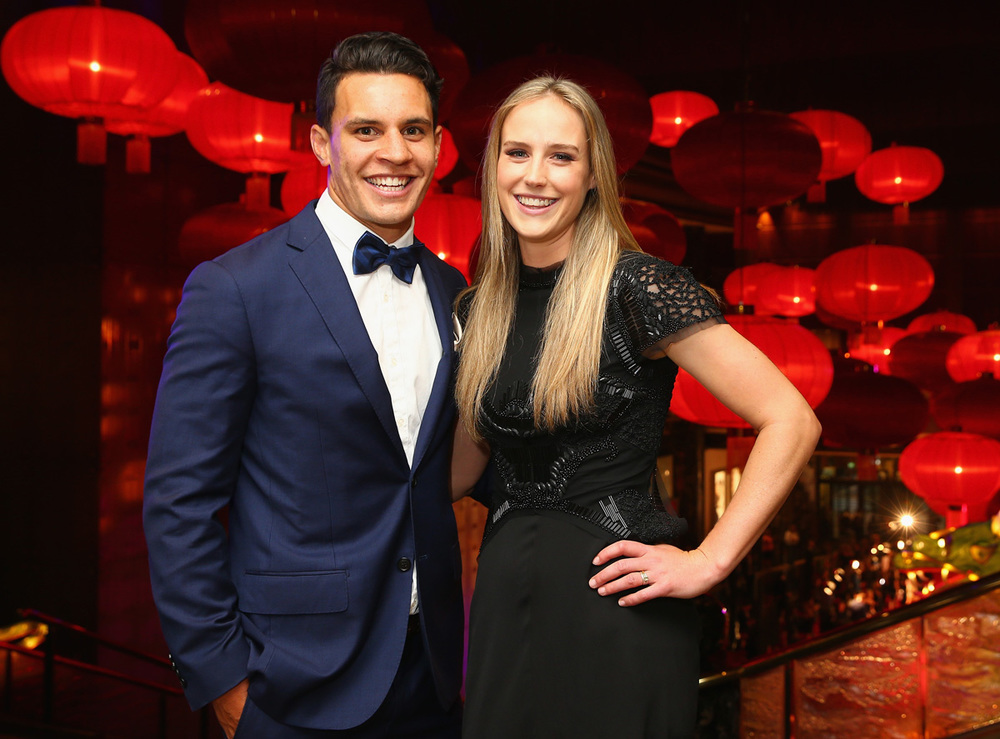 Southern stars all-rounder Ellyse Perry with partner Matt Toomua