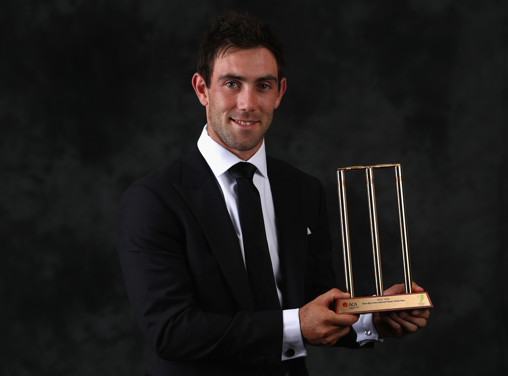 Glenn Maxwell, ODI Player of the Year. Getty Images.