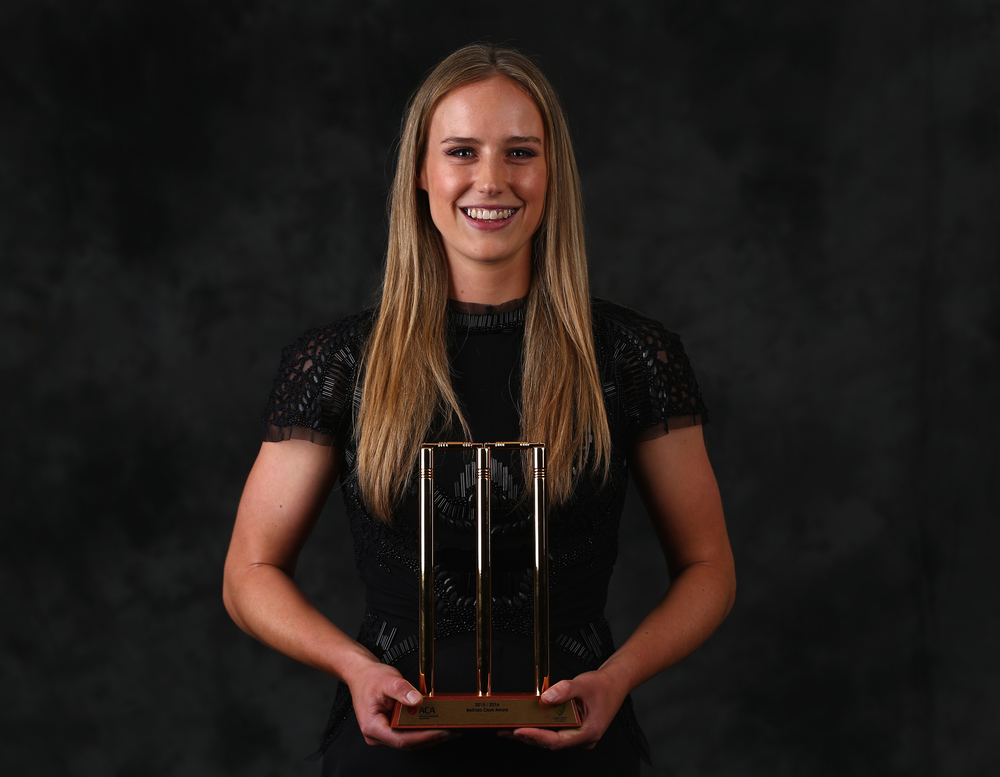 Ellyse Perry, Belinda Clark Award Recipient. Getty Images.