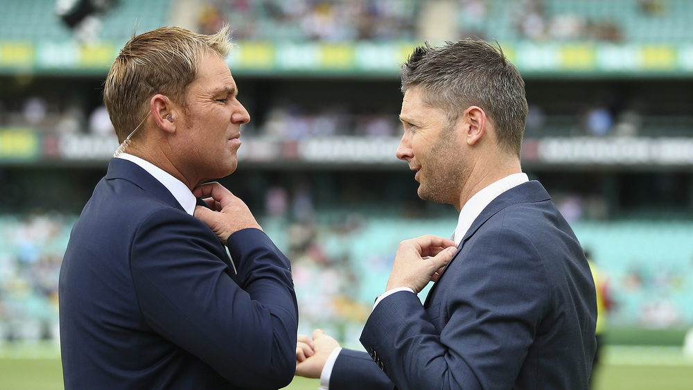 "Forget the suit. Shane Warne says he loves nothing more than spending a night in wearing, ""tracksuit pants on the couch.""  Photo: Getty Images."