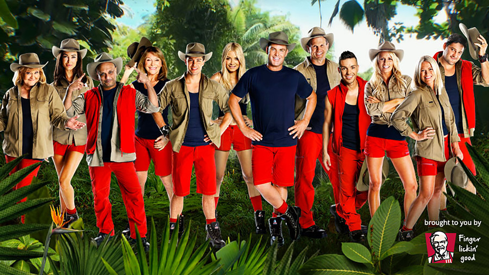 The cast of I'm A Celebrity Get Me Out Of Here 2016, from left to right. Val Lehman, Lauren Fleure,  Akmal Saleh, Bonnie Lythgoe, Dean Geyer, Havana Brown, Shane Warne, Paul Harragon, Anthony Callea, Courtney Hancock, Jo Beth Taylor, Brendan Fevola. Photo: Network 10