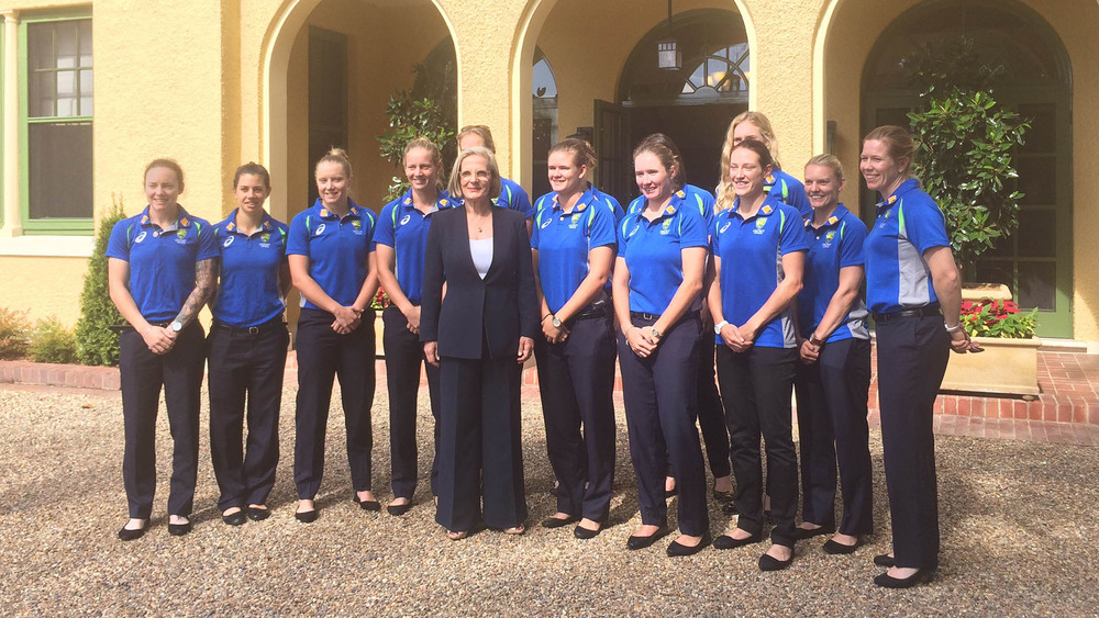 The Southern Stars spent time at The Lodge with Lucy Turnbull. Photo: Sourced.