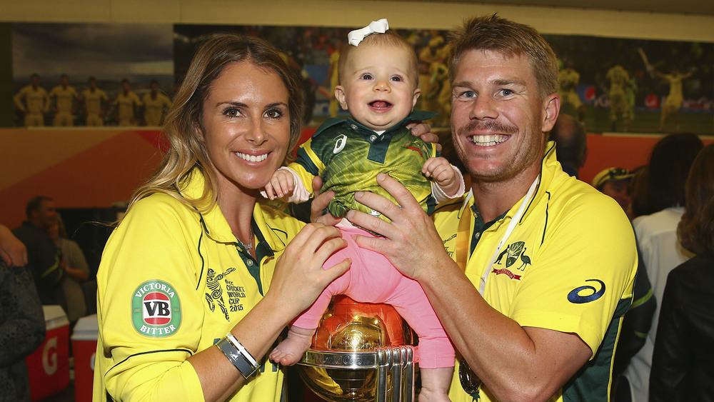 The Warners regularly travel together for cricket commitments. Photo: Getty Images.