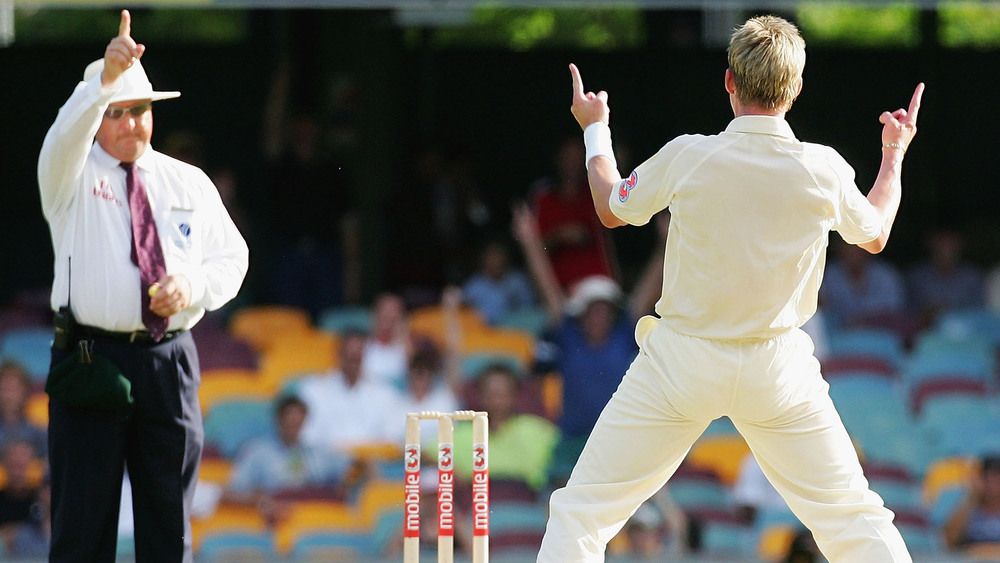 Disco move.. or cricket hand signal? It's sometimes hard to tell. Photo: Getty Images.