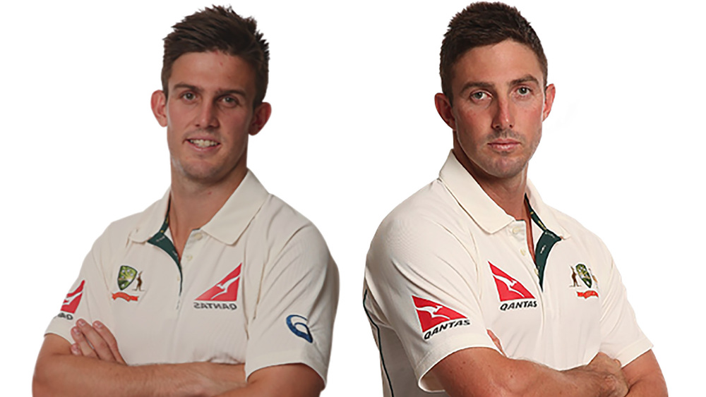 Aussie cricketers and brothers Mitch Marsh (left) and Shaun Marsh (right).