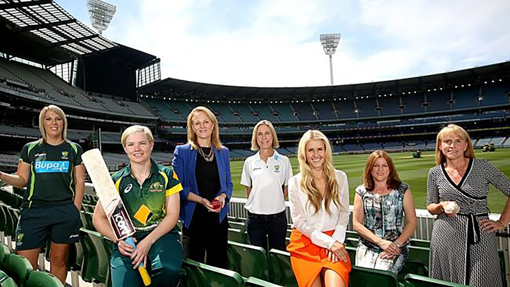 The many faces behind Cricket Australia including General Manager of Business and Advisory Services Kate Banozic (second from right).