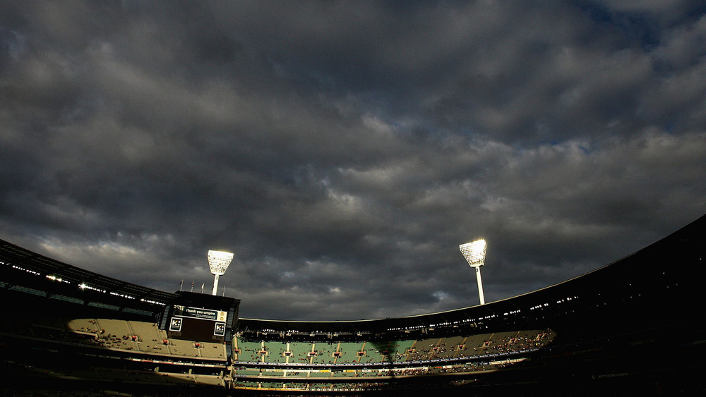 The MCG covered in cloud... yep it's almost winter folks. Photo: Getty Images.