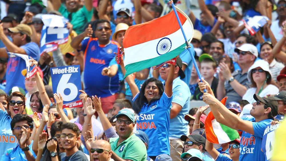 The Indian cricket crowd takes the term fanatical to the next level. Photo: Getty Images.