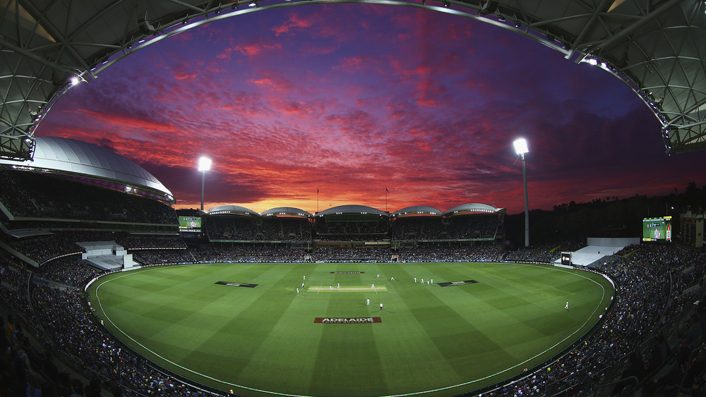 Adelaide Oval bathed in a stunning sunset. Photo: Getty Images.